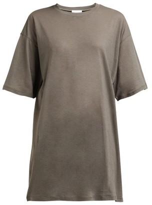 Raey Long-line Cotton-jersey T-shirt - Grey