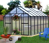 Bed Bath & Beyond Riverstone Monticello Black 8-Foot x 12-Foot Residential Greenhouse