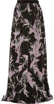 Giambattista Valli Lily Of The Valley Floral-Print Silk-Chiffon Maxi Skirt