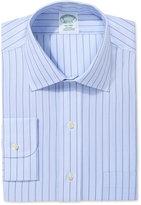 Brooks Brothers Milano Extra Slim Fit Non-Iron Light Blue Stripe Dress Shirt