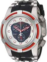 Invicta Men's 'Bolt' Quartz Stainless Steel and Silicone Casual Watch, Color:Two Tone (Model: 22161)