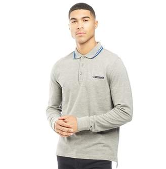 Lambretta Mens Long Sleeve Polo Grey