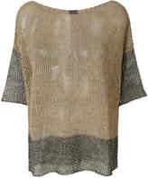 Lorena Antoniazzi metallic colour block knit top