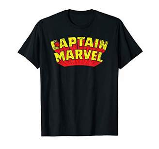 Marvel Captain Retro Comic Title T-Shirt