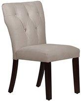 """Skyline Furniture 20"""" Tufted Dining Chair in Velvet Light Gray"""