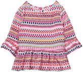 Crazy 8 Cotton Candy Geo Stripe Peplum Top - Infant, Toddler & Girls
