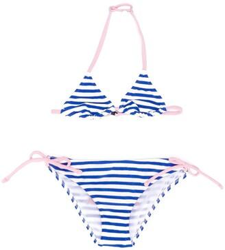 Mc2 Saint Barth Kids Holly striped triangle bikini