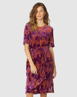 gorman Women's Red Dresses - Iris Devore Tee Dress - Size One Size, 6 at The Iconic