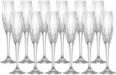 Mikasa Arctic Lights Crystal Champagne Flutes, Set of 12