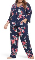 Carole Hochman Plus Size Women's Floral Print Pajamas