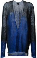 Avant Toi semi sheer v neck tonal cardigan - women - Linen/Flax - S