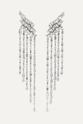 Suzanne Kalan 18-karat White Gold Diamond Earrings - one size