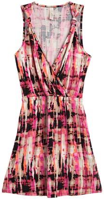 Loveappella Printed Knot Shoulder Strap Dress