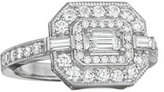 Penny Preville Deco Collection Emerald-Cut Diamond Ring