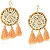 Panacea White Howlite and Pearl Boho Statement Earrings