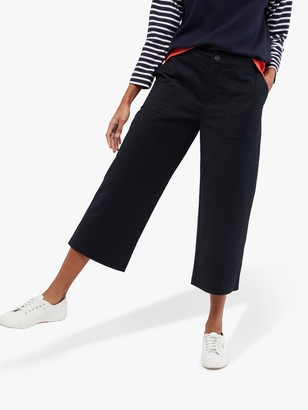 White Stuff Posey Wide Leg Trousers, Ink Navy