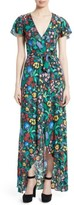 Alice + Olivia Women's Adrianna Floral Faux Wrap Maxi Dress