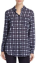 Basler Plaid Print Blouse