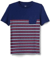 Gap Stripe short sleeve slub tee