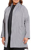 Eileen Fisher Plus Metallic Kimono Coat