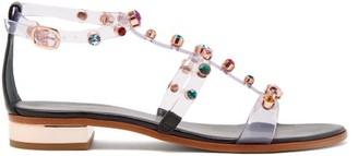 Sophia Webster Dina Crystal-studded Leather Sandals - Womens - Black
