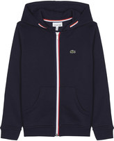 Lacoste Striped cotton hoody 4-16 years