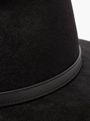 Gucci Horsebit Felt Fedora Hat - Black