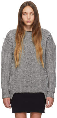 Stella McCartney Grey Cable Knit Sweater