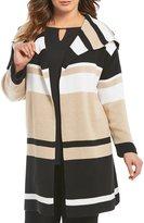 Calvin Klein Plus Blocked Sweater Jacket