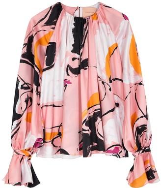 Roksanda Pia Printed Silk Blouse