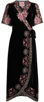 Thumbnail for your product : Johnny Was Joanna Velvet Wrap Dress