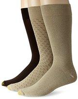 Gold Toe Men's Fashion 3 Pack L Crew Extended Sock
