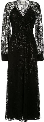 Alexis Embellished Long Sleeve Dress