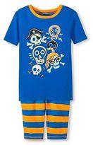 Circo Boys' Skull 2-Piece Pajama Set Blue