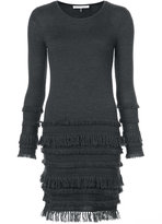 Trina Turk frayed details knit dress