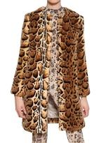 Blumarine Leopard Print Faux Fur Coat