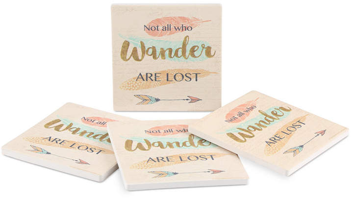 Thirstystone Not All Who Wander 4-Pc. Coaster Set