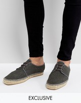 Hudson London Exclusive For Asos Lace Up Mesh Espadrilles