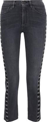 3x1 Corset Hook-detailed High-rise Slim-leg Jeans