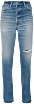 RE/DONE distressed skinny jeans - women - Cotton - 25