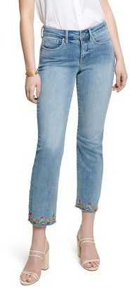 NYDJ Marilyn Ankle Jean with Ankle Embroidery