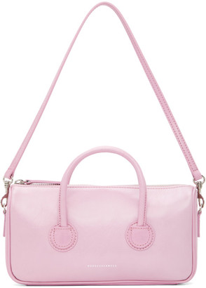 Marge Sherwood Pink Crinkled Small Zipper Bag
