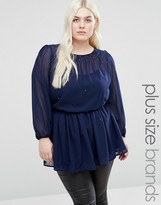 Koko Plus Tunic With Embellished Trim