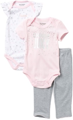 Juicy Couture 2 Bodysuit & Pants Set (Baby Girls 12-18M)