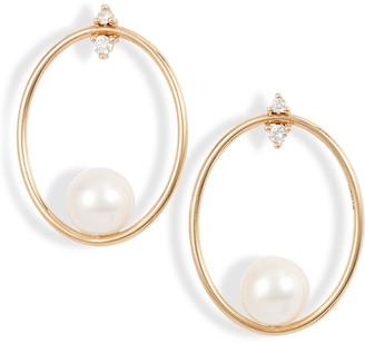 Mizuki Small Oval Frontal Hoop Earrings