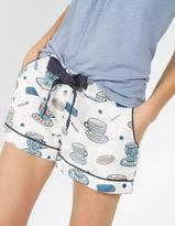 Fat Face Tea Cups Classic Pyjama Shorts