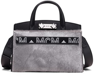 MCM Mini Lux Leather Tote Bag