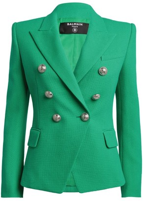Balmain Cotton Double-Breasted Blazer