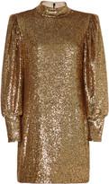 A.L.C. Christy Mock Neck Sequin Mini Dress