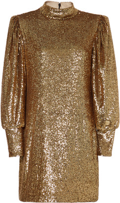 A.L.C. Christy Mock Neck Sequin Mini Dress